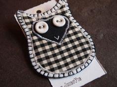 UpCycled Owl Badge