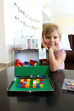 Summer Entertainment: 10 DIY Travel Games for the Kiddos - portable leggos!!