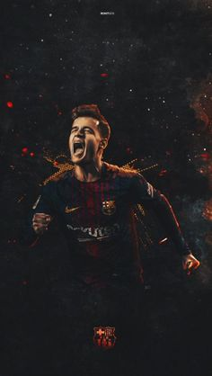 Football Soccer, Football Players, Coutinho Wallpaper, Fc Barcelona Wallpapers, Neymar Barcelona, Deadpool Wallpaper, Football Wallpaper, Camp Nou, Lionel Messi