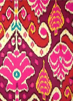 Magenta Pink, Yellow and Ivory Ikat Pillow Covers / Designer HGTV Market Marvel Sateen Sunset / Handmade Home Decor Accent Pillow / In Stock Ikat Pillows, Boho Pillows, Accent Pillows, Chair Cushions, Throw Pillow, Pink Pillow Cases, Pillow Covers, Ikat Pattern, Houses
