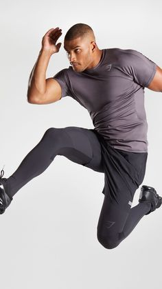 The Compression Slate Legging - Black. Workout Gear For Men, Workout Attire, Gym Outfits, Chill Outfits, Muscle Guys, Fit Men, Men's Fitness, Mens Activewear, Gym Wear