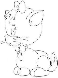 28 Desenhos pontilhado para atividades de educação infantil. - Criativo Ok Kids Art Class, Art For Kids, Crafts For Kids, Easy Drawings For Kids, Drawing For Kids, Paper Embroidery, Embroidery Patterns, Push Pin Art, Dotted Drawings
