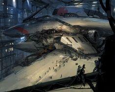 """Under A Darkening Sky"": The Superb Sci-Fi Concept Art By J.C. Park – Design You Trust"