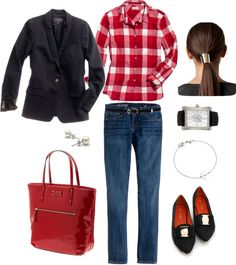 """Flannel Shirt"" by bluehydrangea ❤ liked on Polyvore"
