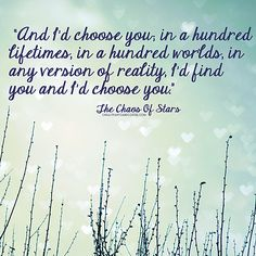 The Chaos Of Stars quote | I'd Choose You