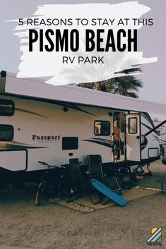 If you're looking for a Pismo Beach RV park to stay at, this one has amazing views, is quiet and secluded, and there are plenty of activities nearby to keep everyone entertained. We were so pleased with our Pismo Beach California experience. Come find out why! #pismobeach #rvliving #california Pismo Beach Camping, Go Camping, Pismo Beach Rv Park, Camping Places, Family Camping, Camping Ideas, Pismo Beach California, California Trip, Best Rv Parks