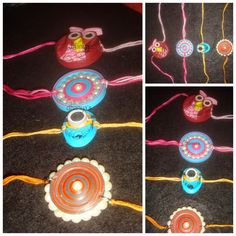 paper quilling rakhi Quilling Rakhi, Rakhi Making, Rakhi Design, Paper Beads, Ear Rings, Paper Quilling, Earring Set, Projects To Try, Beaded Necklace