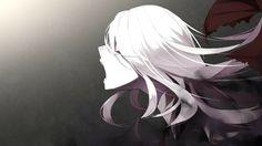girl white hair art