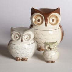 My Owl Barn: World Market: Owl Measuring Cups  I super want these!!!
