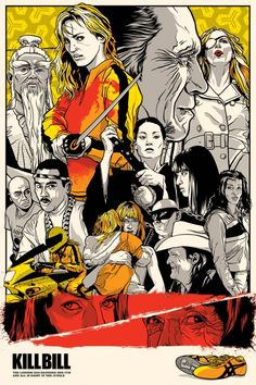 "Joshua Budich – Art Gallery – Illustration, Graphic Design, Web Design – ""Kill Bill"" – Quentin v. Coens Group Show – Spoke Art"