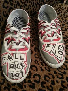 Fall Out Boy Shoes! I NEED these in my life!