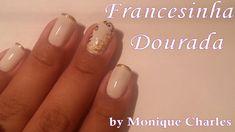 Unhas Decoradas - Francesinha Dourada #manicure #beleza #beauty #beauté #nail #art