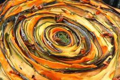 Kuchnia w wersji light: Tarta z ciecierzycy z cukinią i bakłażanem. Bez glutenu i tłuszczu.