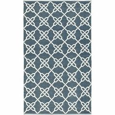 Eco-friendly knotted indoor/outdoor rug with a trellis motif.     Product: RugConstruction Material: Synthetic fiberColor: InkFeatures:  Made in IndiaHand-knottedSuitable for both indoor and outdoor useEco-friendlyNote: Please be aware that actual colors may vary from those shown on your screen. Accent rugs may also not show the entire pattern that the corresponding area rugs have.