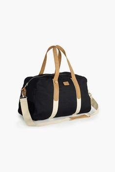 Sac Weekend Bag 48 En Coton Noir - Faguo
