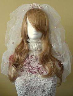 Charlotte veil, bespoke wedding veil, front view