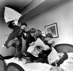 Beatles - Unable to find photographer's name nor able to determine if this is a good way or a bad way to be woken up