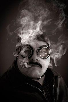 "Baron Von Foss, a self portrait. ""Born in the Wrong Era""."