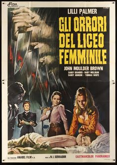 The House That Screamed Italian movie poster. Powerful art by Renato Casaro