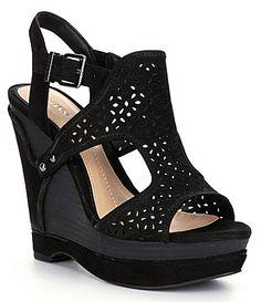 Gianni Bini Tulsah Wedge Sandals   Dillards