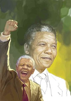 """nelson mandela by Phothooth.  in:  Features Journal """"Tribute to  Nelson Rolihlahla Mandela 18 July 1918 – 5 December 2013"""" Art and Quotes"""