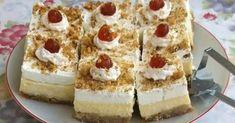 Το πιο υπέροχο  Εκμέκ κανταΐφι που έχετε φάει !!!   Το ταψί που χρησιμοποιώ είναι 38 μάκρος 28 πλάτος και 8 βάθος και βγαίνουν 20 κομμά... Sweets Cake, Sweet Life, Cheesecake, Cooking Recipes, Desserts, Statues, Food, Kitchen, Tailgate Desserts