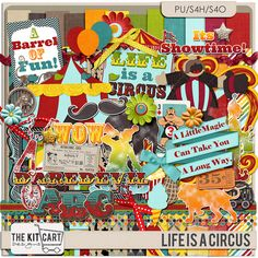 Personal Use :: Kits :: Life Is A Circus Page Kit