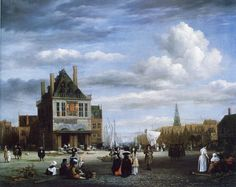 Jacob van Ruisdael - Dam Square with Weigh House, Amsterdam
