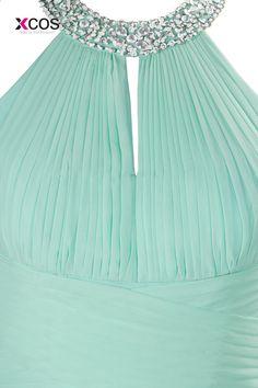 229c428ea6e66 Uzun Ucuz Nane Yeşil Halter Gelinlik Modelleri Kat Uzunluk Şifon Kristal A- Line Balo Düğün