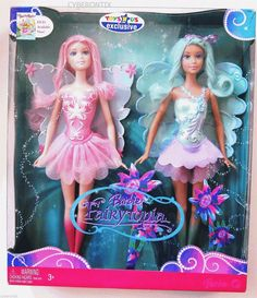 Barbie Fairytopia Dolls Toys R US Exclusive 2 Pack Pink Blue Twin 2007 New | eBay