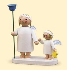 Wendt & Kühn Engelgeschwisterpaar mit Napf und Stern