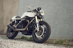 cafe-inspired Moto Guzzi custom