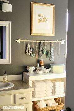 Diy Bathroom Idea On A Budget. 20 Diy Bathroom Idea On A Budget. 26 Best Diy Bathroom Ideas and Designs for 2020 Diy Bathroom Decor, Bath Decor, Diy Home Decor, Bathroom Storage, Bathroom Interior, Bathroom Hacks, Bathroom Furniture, Budget Bathroom, Bathroom Styling