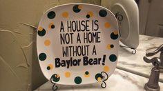 #Baylor decor! @Vanessa Baum  We should make something like this at Practically Picasso