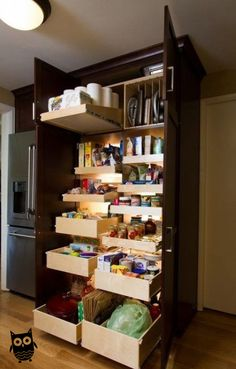 Kitchen cabinet design – Farmhouse kitchen cabinets – Pantry design – Kitchen pantry design – B – Kitchen Pantry Cabinets Designs Farmhouse Kitchen Cabinets, Kitchen Shelves, Diy Kitchen, Awesome Kitchen, Kitchen Decor, Pantry Shelving, Smart Kitchen, Kitchen Furniture, Farmhouse Kitchens
