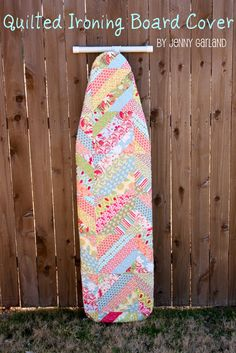 Moda Bake Shop: Quilted Ironing Board Cover This tutorial has a great tip for making large strip squares
