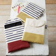 Known for their simple, sturdy styles, the designers at BAGGU worked with us to create this cotton canvas striped iPad® Case. Baby Clothes Storage, Diy Toy Storage, Studio Apartment Storage, Modern Office Storage, Furniture Sale, Modern Furniture, Memorable Gifts, West Elm, Iphone Case Covers