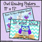 Owl Reading Posters