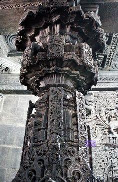 Interiors of Chennakeshava temple, Belur