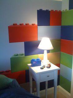 Lego room with big bricks wall decals