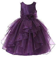 Bow Dream Flower Girl Dress bridesmaid Organza Purple 6 B... https://www.amazon.com/dp/B01BSM6Q1A/ref=cm_sw_r_pi_dp_SuQExbJMKYXAE