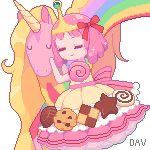 Pixel Princess Bubblegum and Lady Rainicorn by DAV-19.deviantart.com on @deviantART