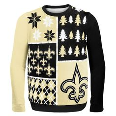 NFL Busy Block Ugly Sweater – New Orleans Saints