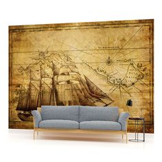 WALL MURAL PHOTO WALLPAPER PICTURE (022PP) Vintage Ship