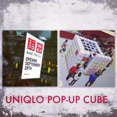 Visit the UNIQLO Pop-Up Cube in our Food Court to get a sneak peek before the store opening this Septemeber!!