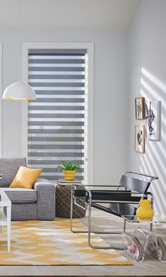 Light and Style! Sunlight that's softened to your satisfaction with new Layered Shades from @baliblinds #LayeredShades #LivingRoom