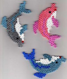 Dolphins hama perler beads by   christelle vandermeulen