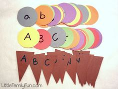 Little Family Fun: Learning Activities Ice Cream Cone letter matching