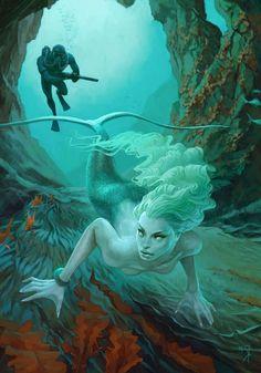 Mesmerizing Mermaid Scenes (UPDATE) : Waldemar von Kozak
