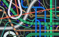 Mobility and New Infrastuctures for @FlowsMag Illustrazione di Giacomo Bagnara http://www.giacomobagnara.com/